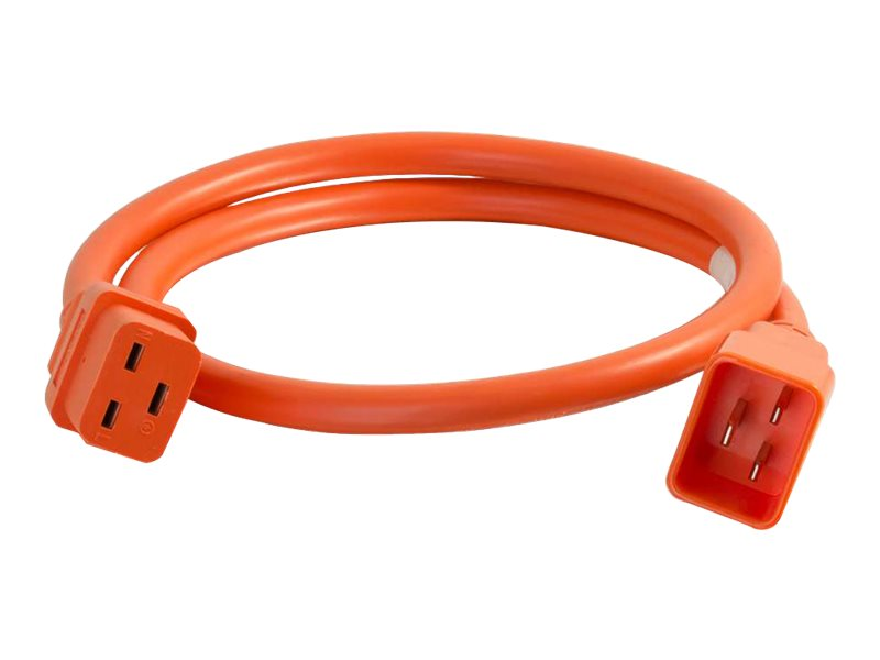 C2G 3ft 12AWG Power Cord (IEC320C20 to IEC320C19) - Orange - power cable - TAA Compliant - 91 cm