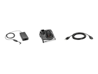 Zebra Single Slot Cradle Kit - Docking cradle - RS-232 / USB - US - for Zebra MC9090-G, MC9090-K, MC9090-S, MC909X-K, MC909X-S, MC9190-G, MC92N0, MC92N0-G Premium