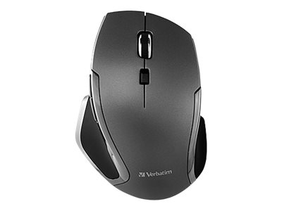 Verbatim Deluxe Mouse 6 buttons wireless 2.4 GHz USB wireless receiver graphit