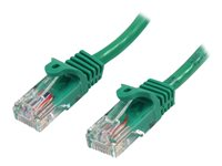 StarTech.com 0.5m Green Cat5e / Cat 5 Snagless Ethernet Patch Cable 0.5 m