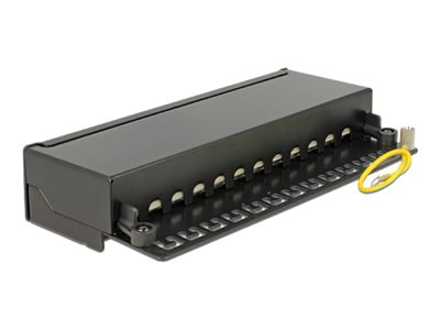 Delock Desktop Patch Panel 12 Port Cat.6A black