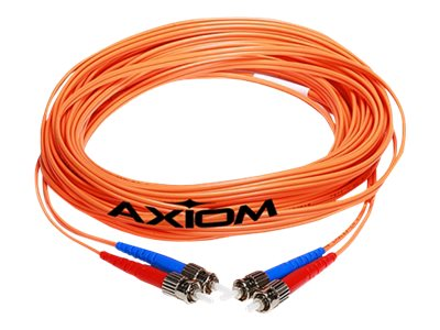 Axiom LC-LC Multimode Duplex OM2 50/125 Fiber Optic Cable - 40m - Orange - network cable - 40 m