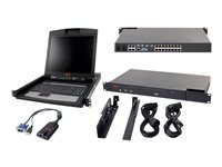 APC 2x1x16 IP KVM with APC 17INCH Rack LCD KVM console with KVM switch 16 ports PS/2, USB