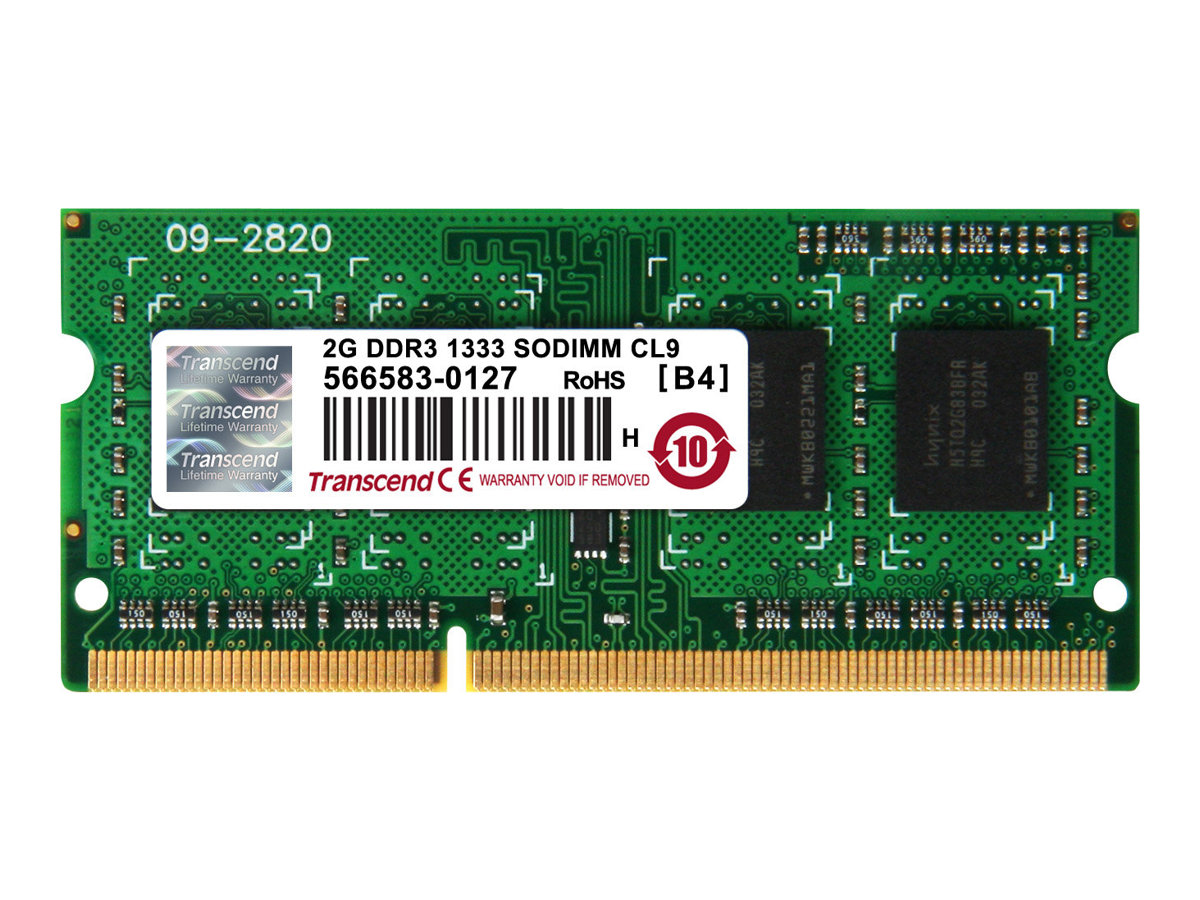 Transcend - DDR3 - 2 GB - SO DIMM 204-PIN - 1333 MHz / PC3-10600 - CL9