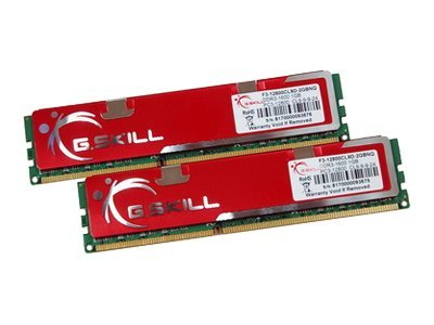 G.Skill NQ Series F3-12800CL9D-4GBNQ Dual Channel - DDR3 - 4 GB : 2 x 2 GB - DIMM 240-PIN - 1600 MHz / PC3-12800 - CL9