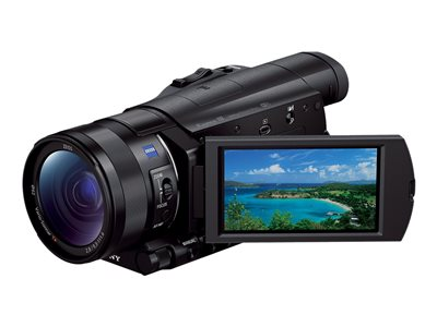 Sony Handycam FDR-AX100 Camcorder 4K 20.9 MP 12x optical zoom Carl Zeiss flash card