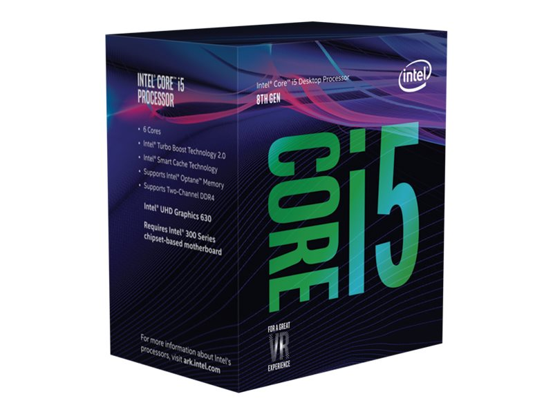 Intel Core i5 8400 - 2.8 GHz - 6 Kerne - 6 Threads - 9 MB Cache-Speicher - LGA1151 Socket