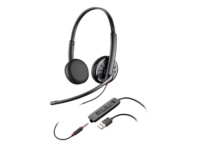 Plantronics Blackwire 325-M - 300 Series - headset - on-ear - wired - USB