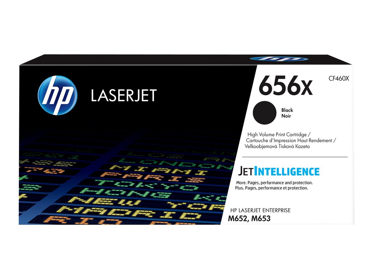 HP 656X - High Yield - black - original - LaserJet - toner cartridge (CF460X)