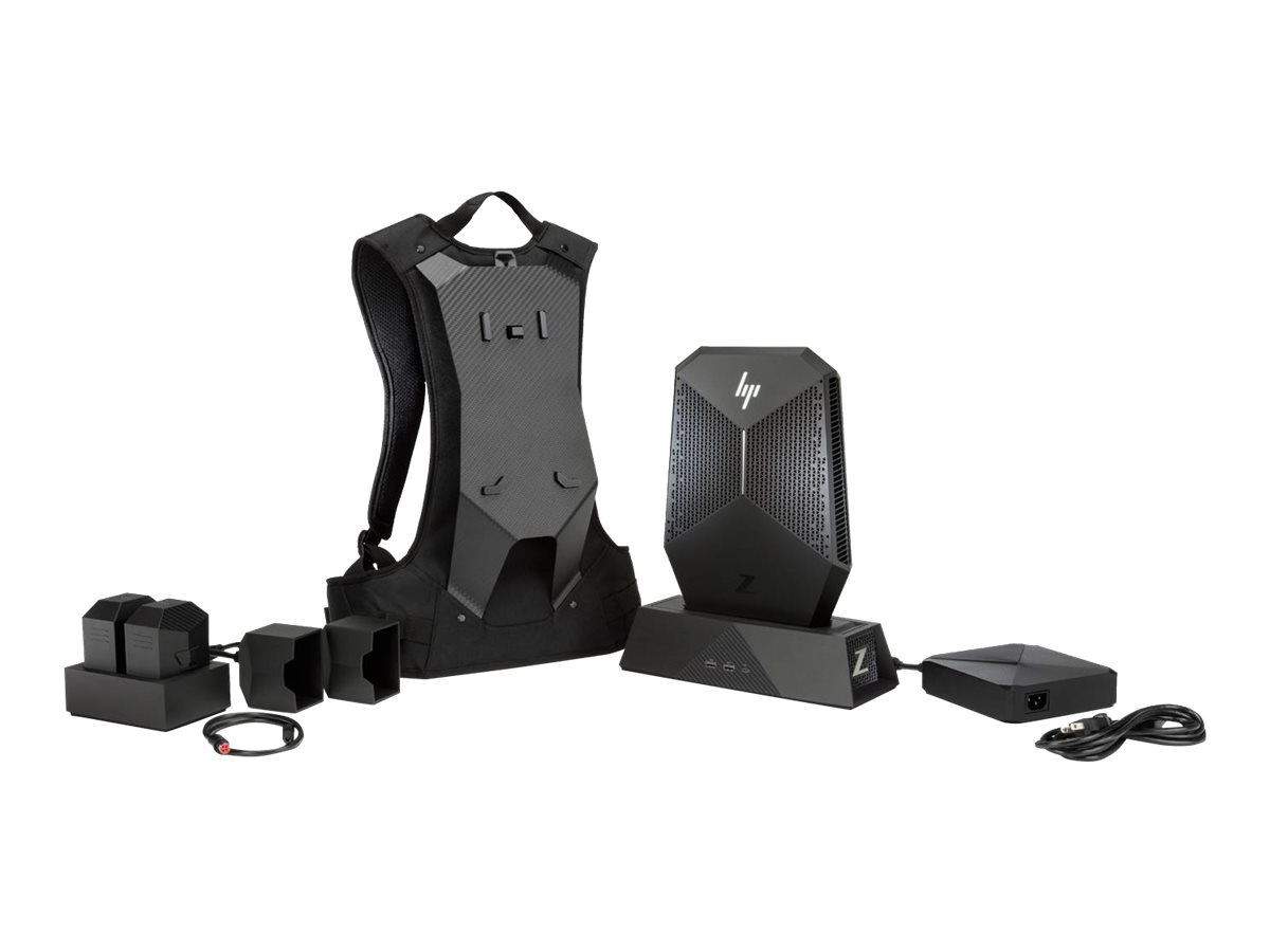 HP Workstation Z VR Backpack G1 - backpack PC - Core i7 7820HQ 2.9 GHz - 16 GB - SSD 256 GB