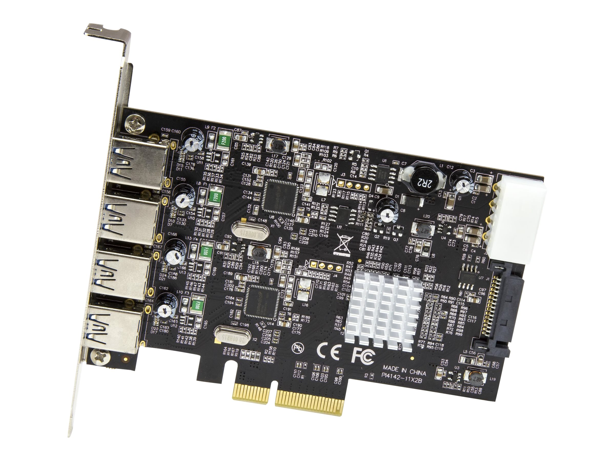 StarTech.com 4-Port USB PCIe Card - 10Gbps USB 3.1/3.2 Gen 2 Type-A PCI Express Expansion Card - 2 Controllers - 4xUSB …