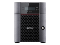 BUFFALO TeraStation 5410DN - NAS server - 4 bays - 8 TB - SATA 6Gb/s - HDD 2 TB x 4 - RAID 0, 1, 5, 6, 10, JBOD - RAM 4 GB - 10 Gigabit Ethernet - iSCSI - with 4 years 24-hour TeraStation VIP HDD Exchange Service
