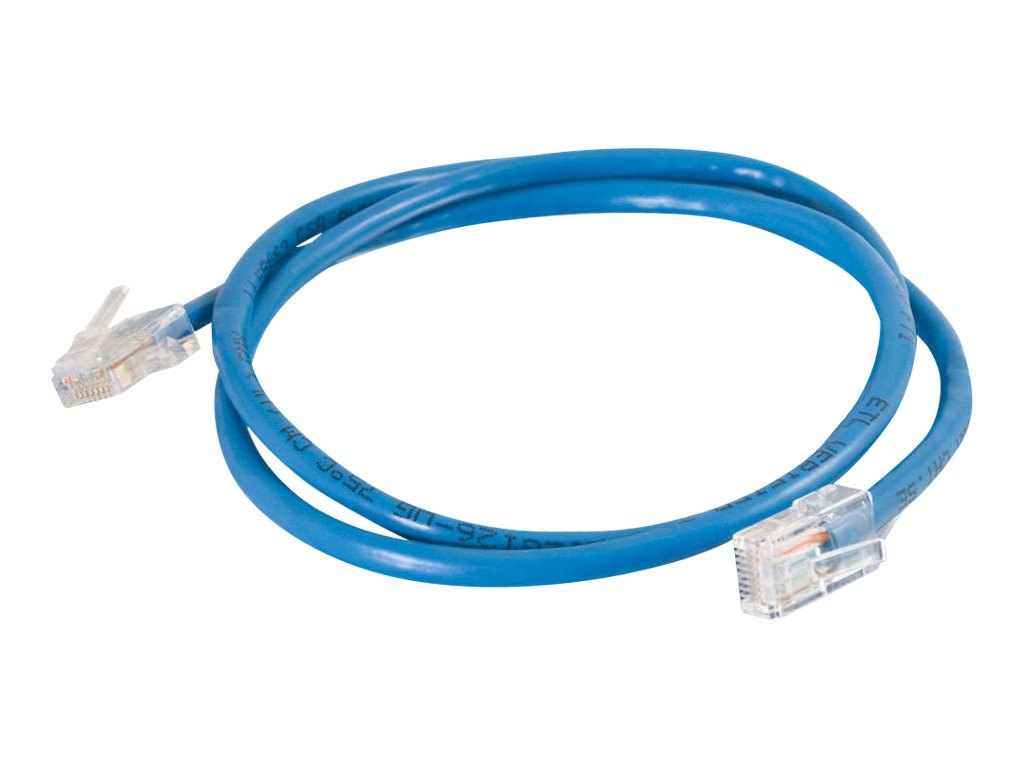 C2G Cat5e Non-Booted Unshielded (UTP) Network Patch Cable - patch cable - 2.13 m - blue