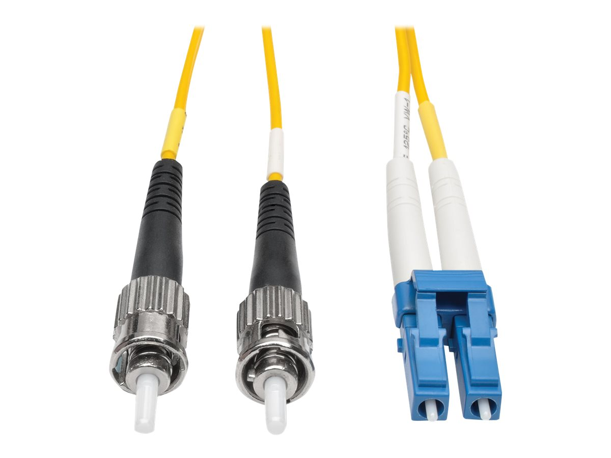 Tripp Lite 10M Duplex Singlemode 8.3/125 Fiber Optic Patch Cable LC/ST 33' 33ft 10 Meter - patch cable - 10 m - yellow
