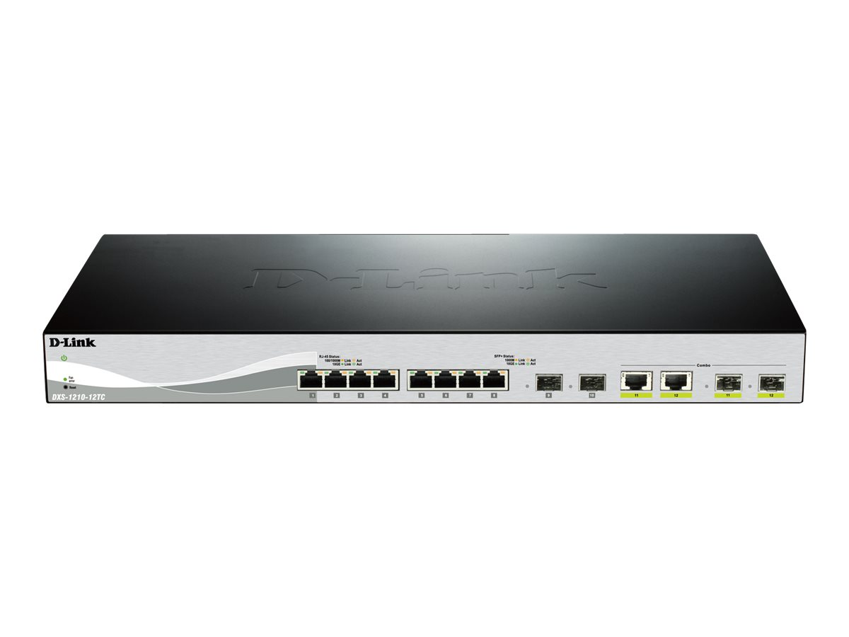 D-Link Web Smart DXS-1210-12TC - switch - 12 ports - managed - rack-mountable