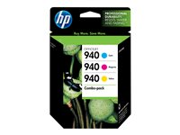HP 940 3-pack yellow, cyan, magenta original Officejet ink cartridge