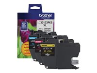 Brother LC30133PKS 3-pack High Yield yellow, cyan, magenta original ink cartridge