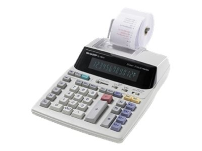 Sharp EL-1801V Printing calculator VFD 12 digits AC adapter