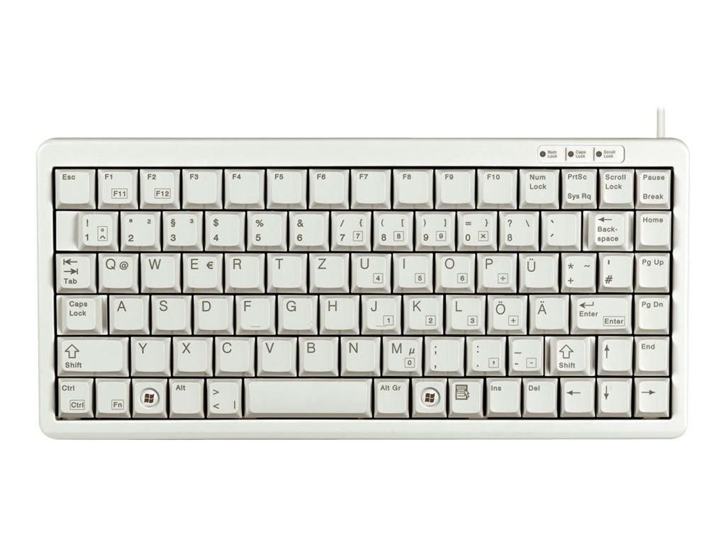 CHERRY Compact-Keyboard G84-4100 - Tastatur - USB - Deutsch - Hellgrau