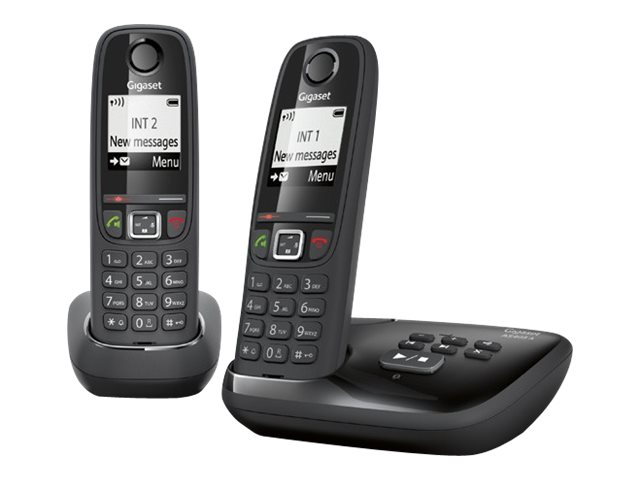 Image of Gigaset AS405A Duo - cordless phone - answering system with caller ID + additional handset