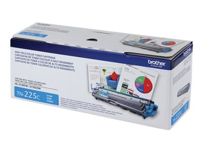 Brother TN-225C High Yield cyan original toner cartridge