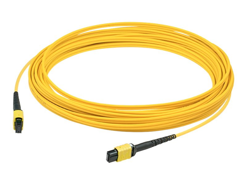 AddOn 1m MPO OS1 Yellow Patch Cable - crossover cable - 1 m - yellow