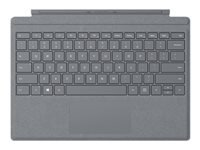 Microsoft Surface Pro Signature Type Cover - Keyboard - with trackpad - backlit - US - light charcoal - commercial - for Surface Pro (Mid 2017), Pro 3, Pro 4, Pro 6