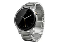 Motorola Moto 360 2nd Generation 42 mm silver smart watch with band metal silver