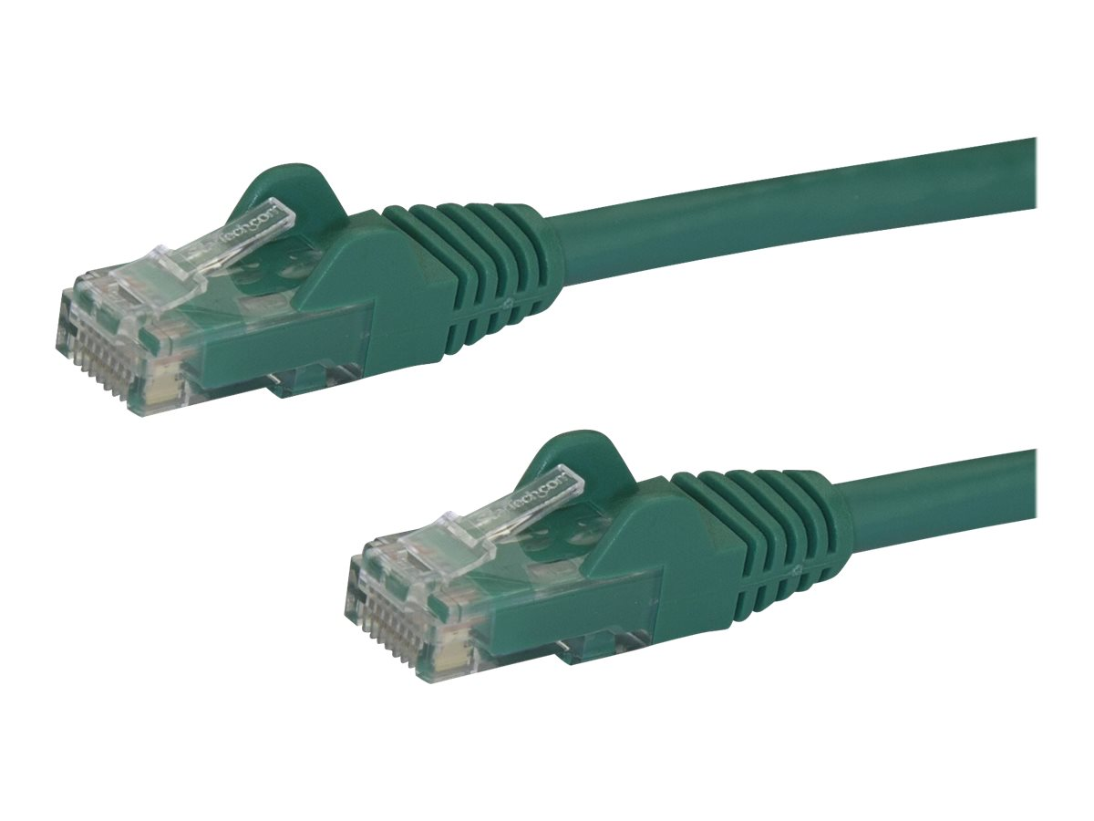 StarTech.com 7 ft. (2.1 m) Cat6 Cable - Power Over Ethernet - Snagless - Green - Ethernet Network Cable (N6PATCH7GN) - …