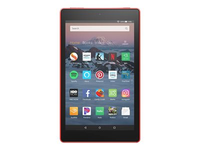 Amazon Fire HD 8 Tablet Fire OS 16 GB 8INCH IPS (1280 x 800) microSD slot punch red