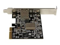 StarTech.com 1 Port PCI Express 10GBase-T / NBASE-T Ethernet Network Card - 5-Speed Network Support: 10G/5G/2.5G/1G/100Mbps - PCIe 2.0 x4 (ST10GSPEXNB) - Network adapter - PCIe 2.0 x4 low profile - 1000Base-T x 1 - black