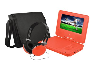 Ematic EPD707 DVD player portable display: 7INCH red