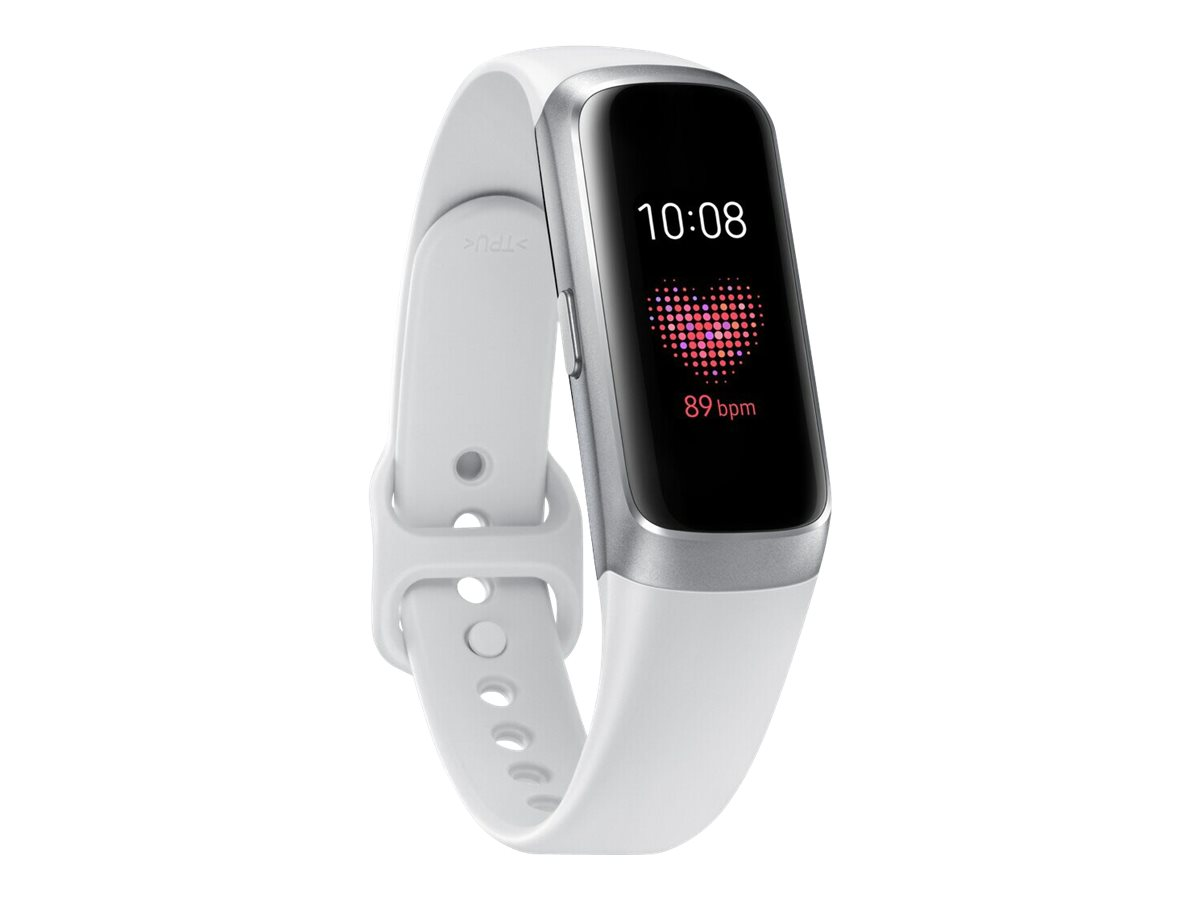 Samsung Galaxy Fit - silver - activity tracker with strap - white - 32 MB