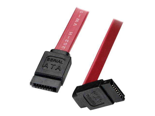 Lindy Short Right-Angled Connector - SATA cable - SATA (F) to SATA (F) - 20 cm - 90° connector, right-angled connector - red