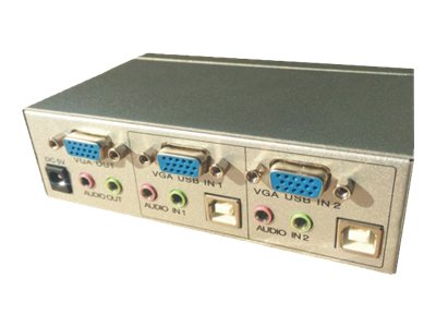 M-CAB - KVM-/Audio-/USB-Switch - 2 x KVM/Audio/USB - 1 lokaler Benutzer - Desktop
