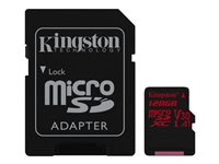 Kingston Canvas React - Flash-Speicherkarte (microSDXC-an-SD-Adapter inbegriffen)