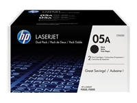 Picture of HP 05A - 2-pack - black - original - LaserJet - toner cartridge (CE505D) (CE505D)