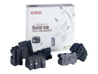 Xerox - 6 - black - solid inks - for Phaser 8860, 8860DN, 8860MFP, 8860MFP/D, 8860MFP/E, 8860MFP/SD, 8860PP, 8860WDN