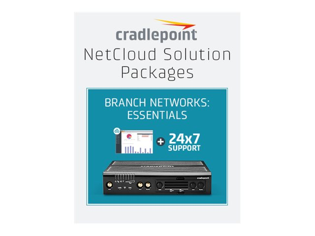 Cradlepoint NetCloud Essentials for Branch Routers (Prime) - subscription license (1 year) + Support - 1 license - with…