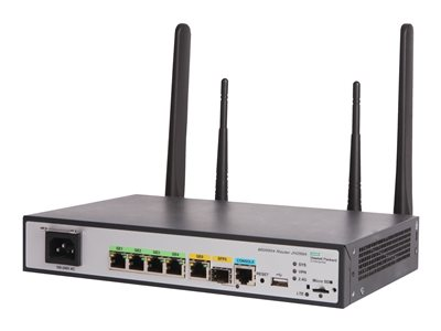 HPE MSR954-W (WW) Wireless router WWAN 4-port switch GigE WAN ports: 2 802.11b/g/n
