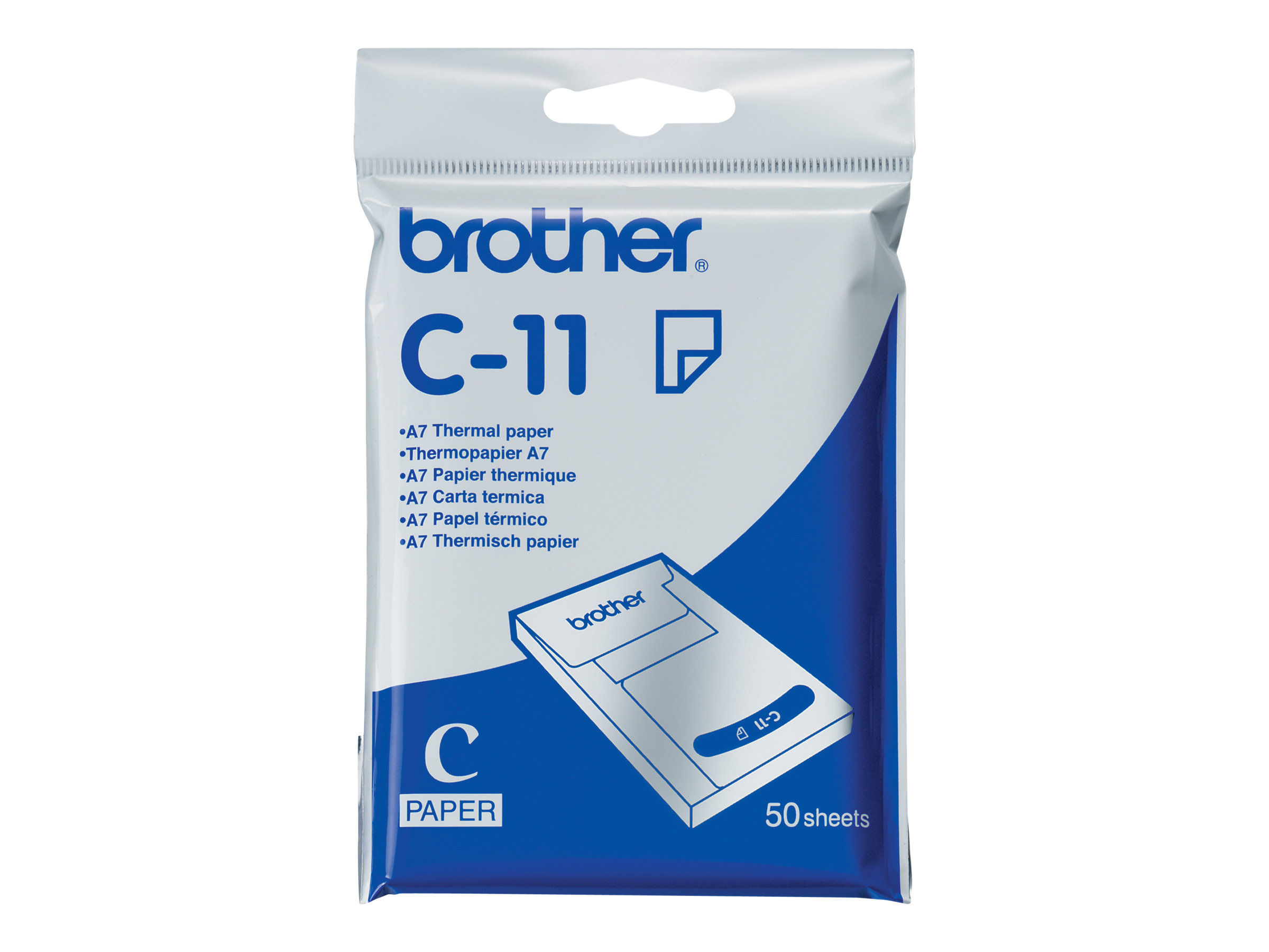 Brother - A7 (74 x 105 mm) 50 Blatt Thermopapier - für m-PRINT MW-100, MW-120, MW-140BT, MW-145BT
