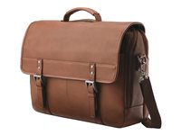 Samsonite Classic Leather Flapover Notebook carrying case 15.6INCH cognac