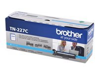 Brother TN-227C - High Yield - cyan - original - toner cartridge - for Brother DCP-L3550, HL-L3210, L3230, L3270, L3290, MFC-L3710, L3730, L3750, L3770