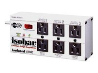 Tripp Lite Isobar Surge Protector Strip Metal 6 Outlet 6' Cord 3330 Joules - surge protector