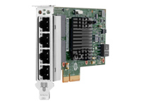 HPE 366T - Network adapter - PCIe 2.1 x4 low profile - Gigabit Ethernet x 4 - for ProLiant DL20 Gen10, DL360 Gen10, DL380 Gen10, ML350 Gen10; SimpliVity 325 Gen10