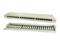 M-CAB - Patch Panel - RJ-45 X 24 - Grau, RAL 7035 - 19