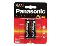 Panasonic Alkaline Plus AM-3PA battery - 2 x AA type - alkaline