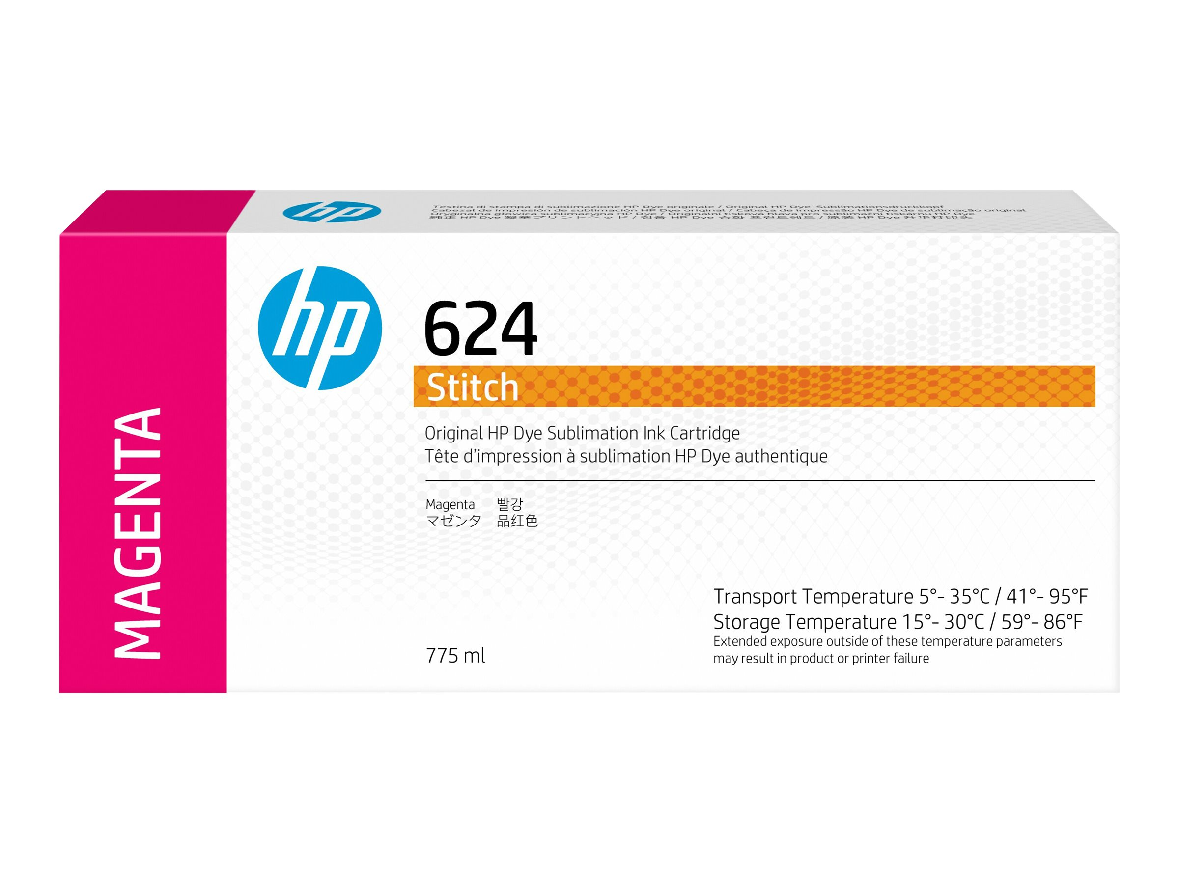 HP 624 - dye-based magenta - original - ink cartridge