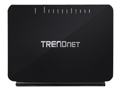 TRENDnet TEW-816DRM - Wireless Router - DSL-Modem - 4-Port-Switch - GigE - 802.11a/b/g/n/ac