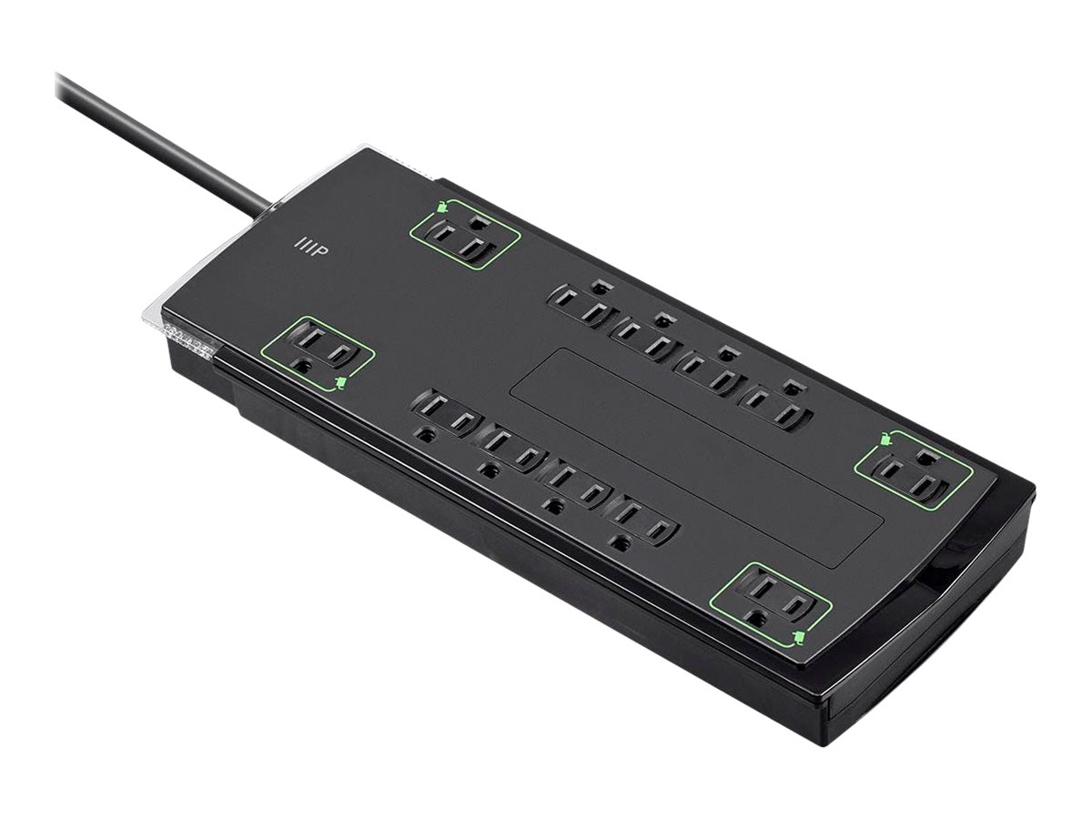 Monoprice 12 Outlet Slim Surge Protector - surge protector